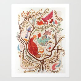 Stray Birds Art Print