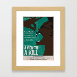 A VIEW TO A KILL Framed Art Print