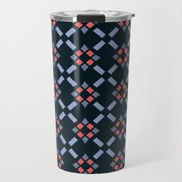 REEF coral & marine blues in diamond seamless pattern Travel Mug