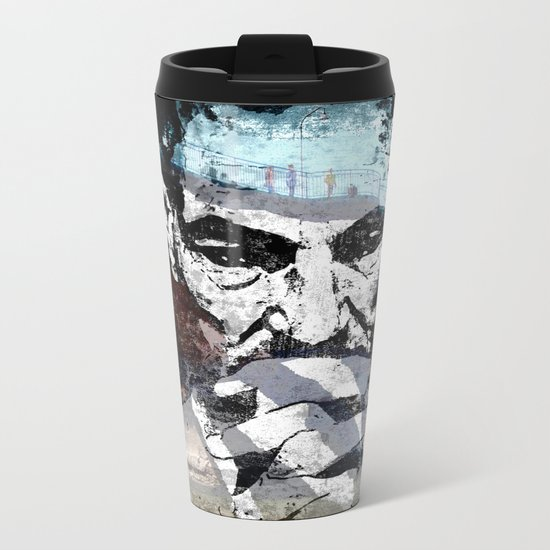 contemplation - original Metal Travel Mug