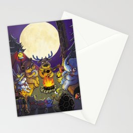 Animal summer camp Stationery Cards