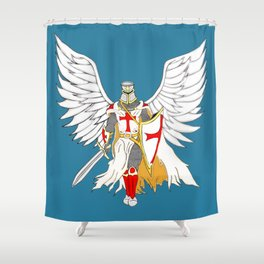 Knights Templar Angel  Shower Curtain
