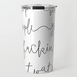 Stop Killing People - White and Black Travel Mug