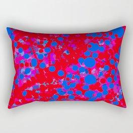 blue on red, circles Rectangular Pillow