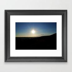 The Brightest Star Framed Art Print