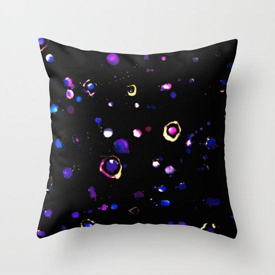 Celestial Splatter Throw Pillow