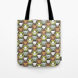 Kawaii Autumn Bears Tote Bag