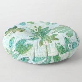 Dreamy green flowers Floor Pillow