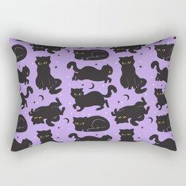 Little Black Cats Rectangular Pillow