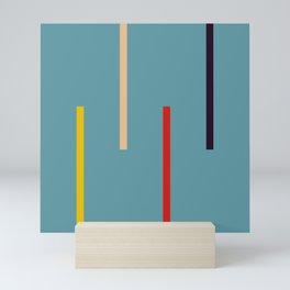 Abstract Classic Stripes Mirian Mini Art Print