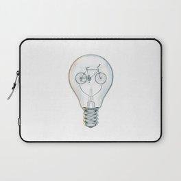 Light Bicycle Bulb Laptop Sleeve