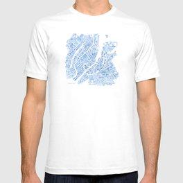 Copenhagen Denmark watercolor city map T-shirt