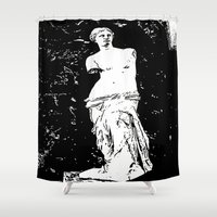 venus Shower Curtains featuring Venus by osile ignacio