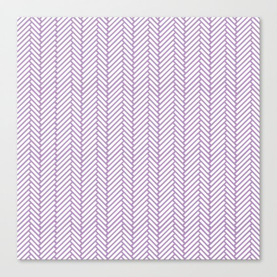 Herringbone Orchid Canvas Print