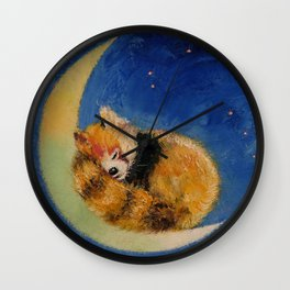 Red Panda Dreams Wall Clock