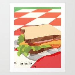 Sandwich Art Print