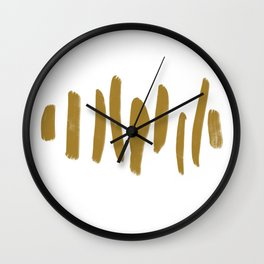 Gold Minimalist Brush Strokes Wall Clock