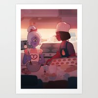 baking Art Prints featuring baking by mintgal