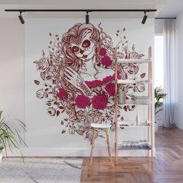 Sexy Woman zombie WITH Flower - Razzmatazz Wall Mural