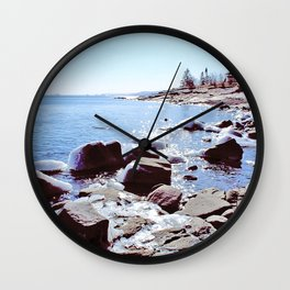 Lake Superior Spring Wall Clock