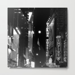The Supermoon over Times Square Metal Print