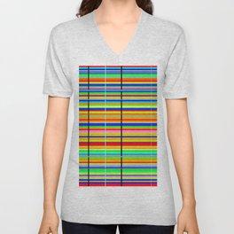 Stripes  Unisex V-Neck