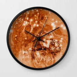 Rusty ghost wreck Wall Clock