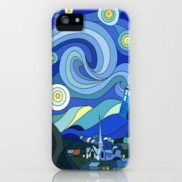 Tardis Art Starry Night iPhone Case