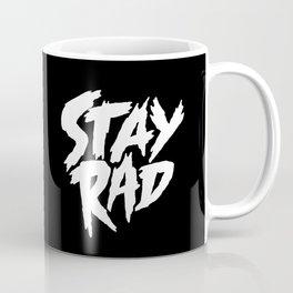Stay Rad (on Black) Coffee Mug