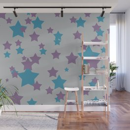 Stars light purple grey Design Wall Mural