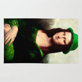 Lucky Mona Lisa - St Patrick's Day Rug