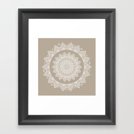 Baja Dunes Mandala Lace Classic Elegant Bohemian Décor Framed Art Print