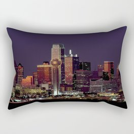 Dallas texas skyline dusk Rectangular Pillow