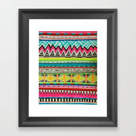 VIVID EYOTA Framed Art Print