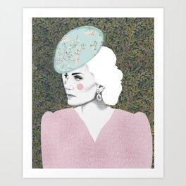 Princess Kate Middleton / Duchess of Cambridge Artwork / Fashion Dress / Wall Decor Art / Wedding Gr Art Print
