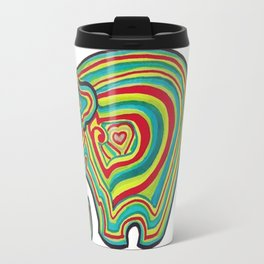 Vibrant Elephant Travel Mug