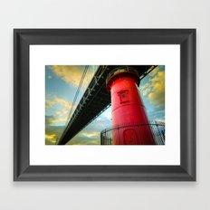 Little Red Lighthouse Framed Art Print