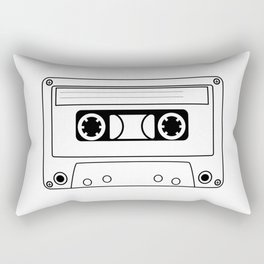 Cassette Tape Silhouette Rectangular Pillow