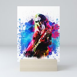 Jerry Cantrell - Water Colour Art Design Mini Art Print