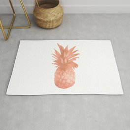 Pineapple Rose Gold Rug