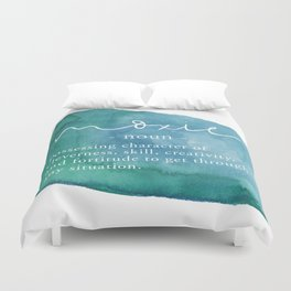 Moxie Definition - Blue Watercolor Duvet Cover