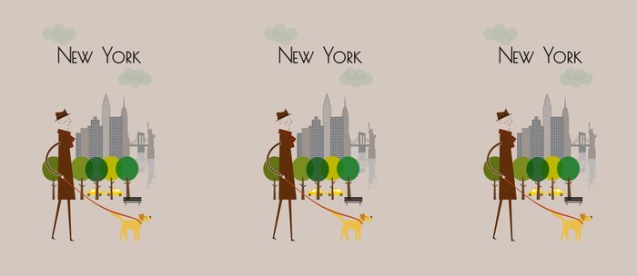 New York - In the City - Retro Travel Poster Design Coffee Mug