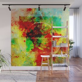 Subtle Form - Abstract colour painting Wall Mural
