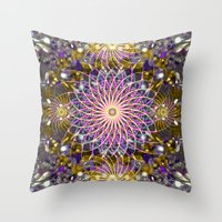 sparkle Throw Pillows featuring Sparkle by Angelo Cerantola