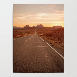 THE WAY WEST MONUMENT VALLEY ARIZONA Poster