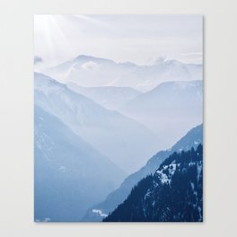 Layers of the Swiss Alps Canvas Print