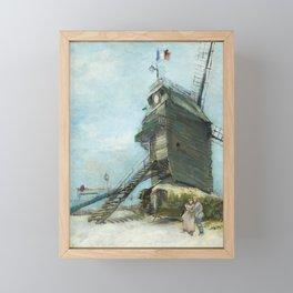 Van Gogh - The Moulin de la Galette Framed Mini Art Print