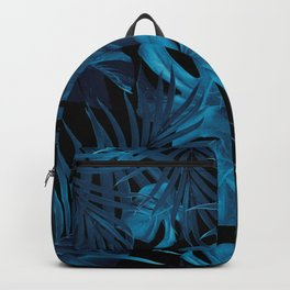 Tropical Jungle Night Leaves Pattern #2 #tropical #decor #art #society6 Backpack