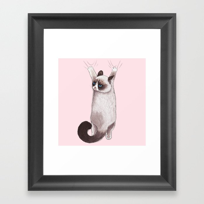 Grumpy Hang Framed Art Print