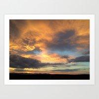 Enchanted Sunset Art Print